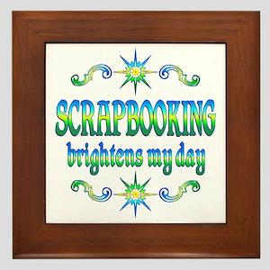 Scrapbooking Brightens Framed Tile