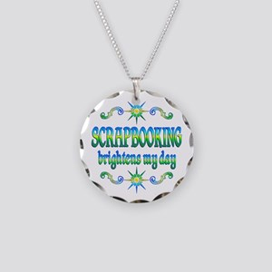 Scrapbooking Brightens Necklace Circle Charm
