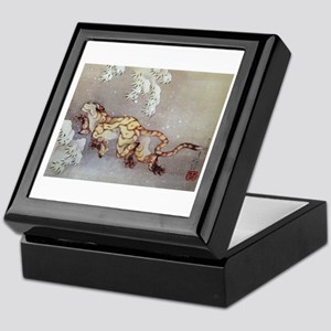Hokusai Old Tiger In The Snow Keepsake Box