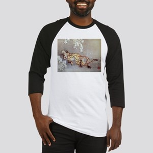 Hokusai Old Tiger In The Snow Baseball Jersey