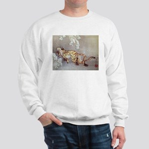 Hokusai Old Tiger In The Snow Sweatshirt