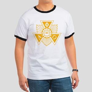 Alpha Phi Omega Crest and Letter Design Ringer T