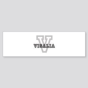 Visalia (Big Letter) Bumper Sticker
