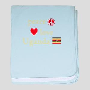 Peace, Love and Uganda baby blanket
