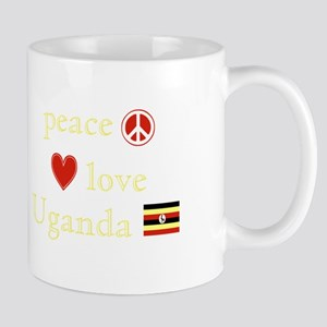 Peace, Love and Uganda Mug