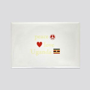 Peace, Love and Uganda Rectangle Magnet