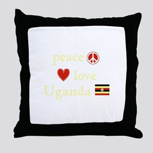 Peace, Love and Uganda Throw Pillow