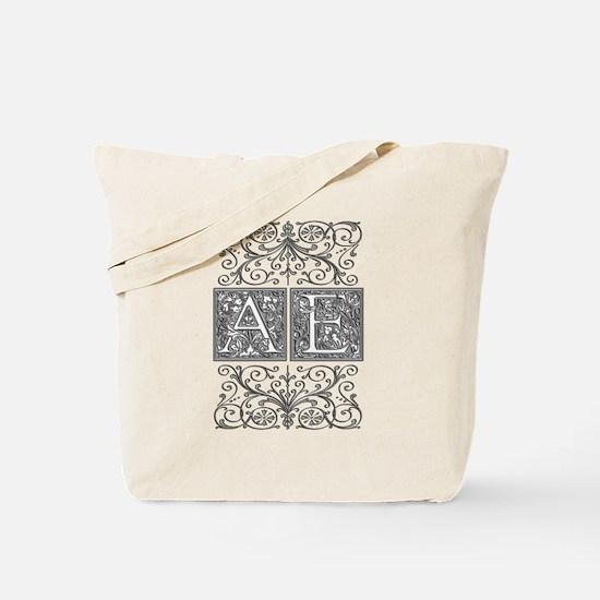 AE, initials, Tote Bag