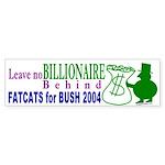 FatCats for Bush Bumper Sticker