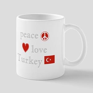 Peace, Love and Turkey Mug