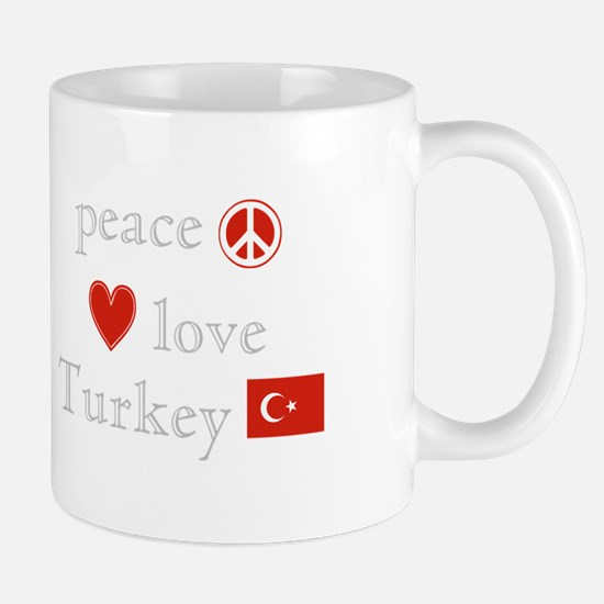 Peace, Love and Turkey Mug