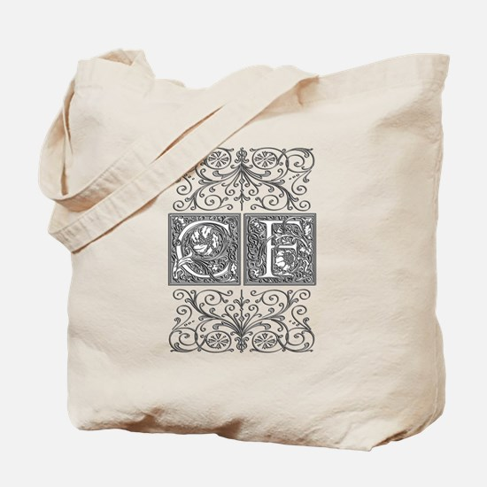 CF, initials, Tote Bag
