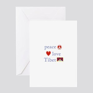 Peace, Love and Tibet Greeting Card