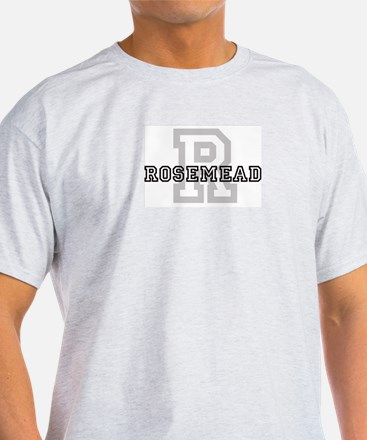Rosemead (Big Letter) Ash Grey T-Shirt
