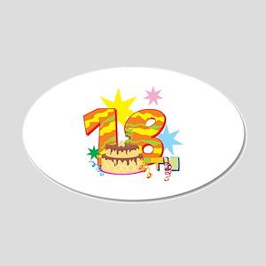 18th Celebration 22x14 Oval Wall Peel