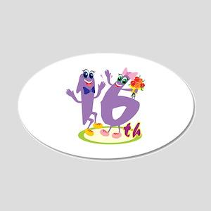 16th Celebration 22x14 Oval Wall Peel