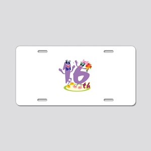 16th Celebration Aluminum License Plate