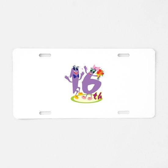 16th Celebration Aluminum License Plate
