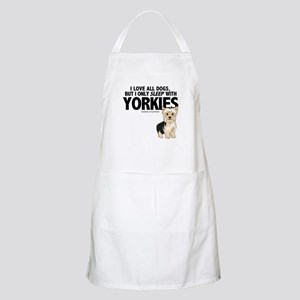 I Sleep with Yorkies Apron