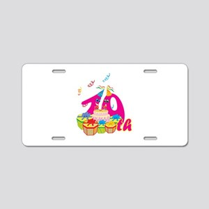 10th Celebration Aluminum License Plate