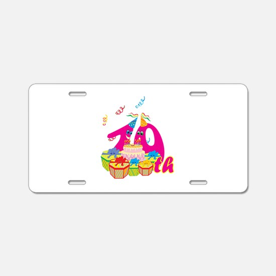 10th Celebration Aluminum License Plate