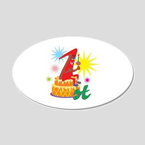 1st Celebration 22x14 Oval Wall Peel