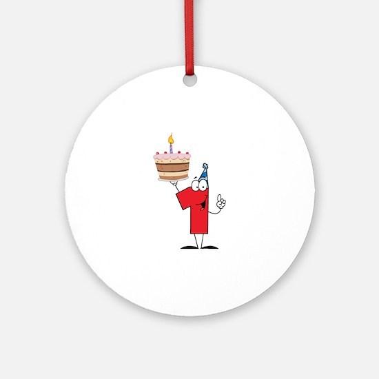 1st Celebration Ornament (Round)
