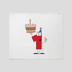 1st Celebration Throw Blanket