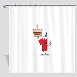 1st Celebration Shower Curtain