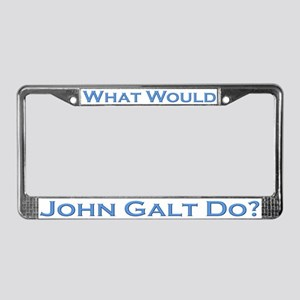 What Would John Galt Do BLUE License Plate Frame