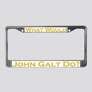 What Would John Galt Do GOLD License Plate Frame