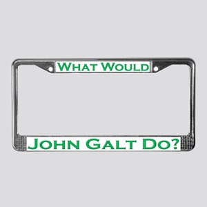 What Would John Galt Do GREEN License Plate Frame