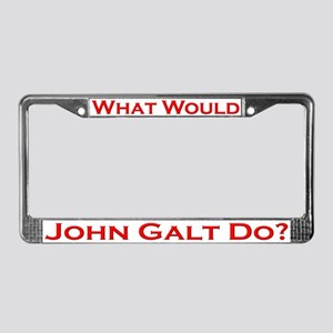 What Would John Galt Do RED License Plate Frame