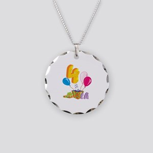 4th Celebration Necklace Circle Charm