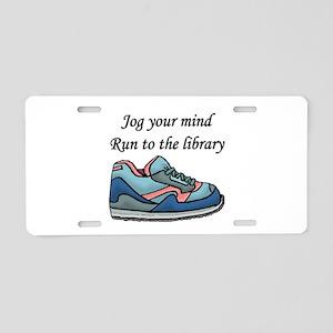 """Jog Your Mind"" Aluminum License Plate"