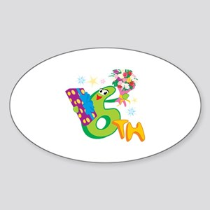 6th Celebration Sticker (Oval)