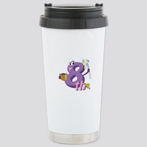 8th Celebration Stainless Steel Travel Mug