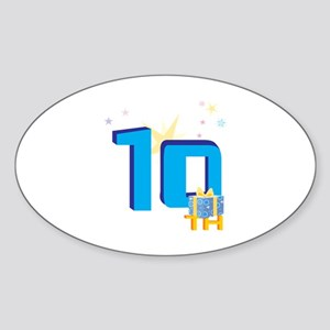 10th Celebration Sticker (Oval)