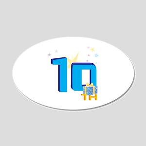10th Celebration 22x14 Oval Wall Peel