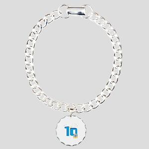 10th Celebration Charm Bracelet, One Charm
