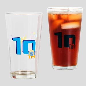 10th Celebration Drinking Glass