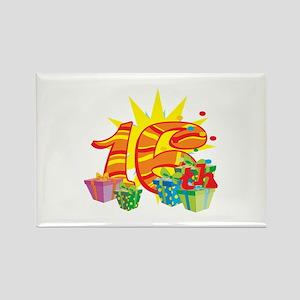 16th Celebration Rectangle Magnet