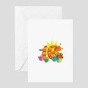 16th Celebration Greeting Card