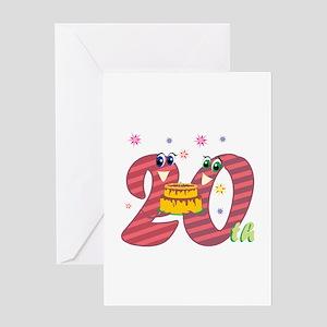 20th Celebration Greeting Card