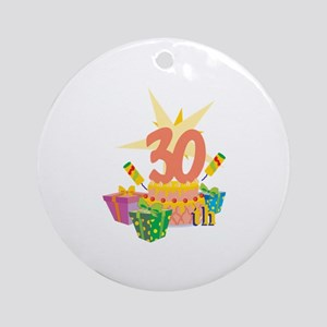 30th Celebration Ornament (Round)