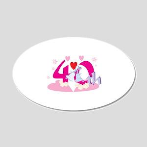 40th Celebration 22x14 Oval Wall Peel