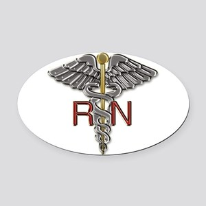 RN Medical Symbol Oval Car Magnet
