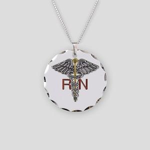 RN Medical Symbol Necklace Circle Charm