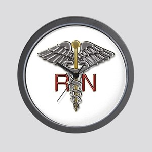 RN Medical Symbol Wall Clock