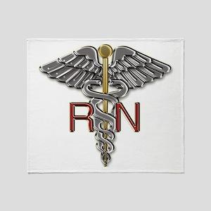 RN Medical Symbol Throw Blanket